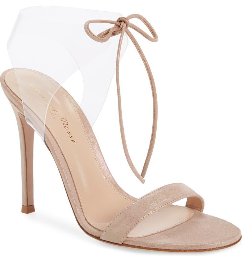 GIANVITO ROSSI Translucent Sandal, Main, color, ROSA/ CRYSTAL