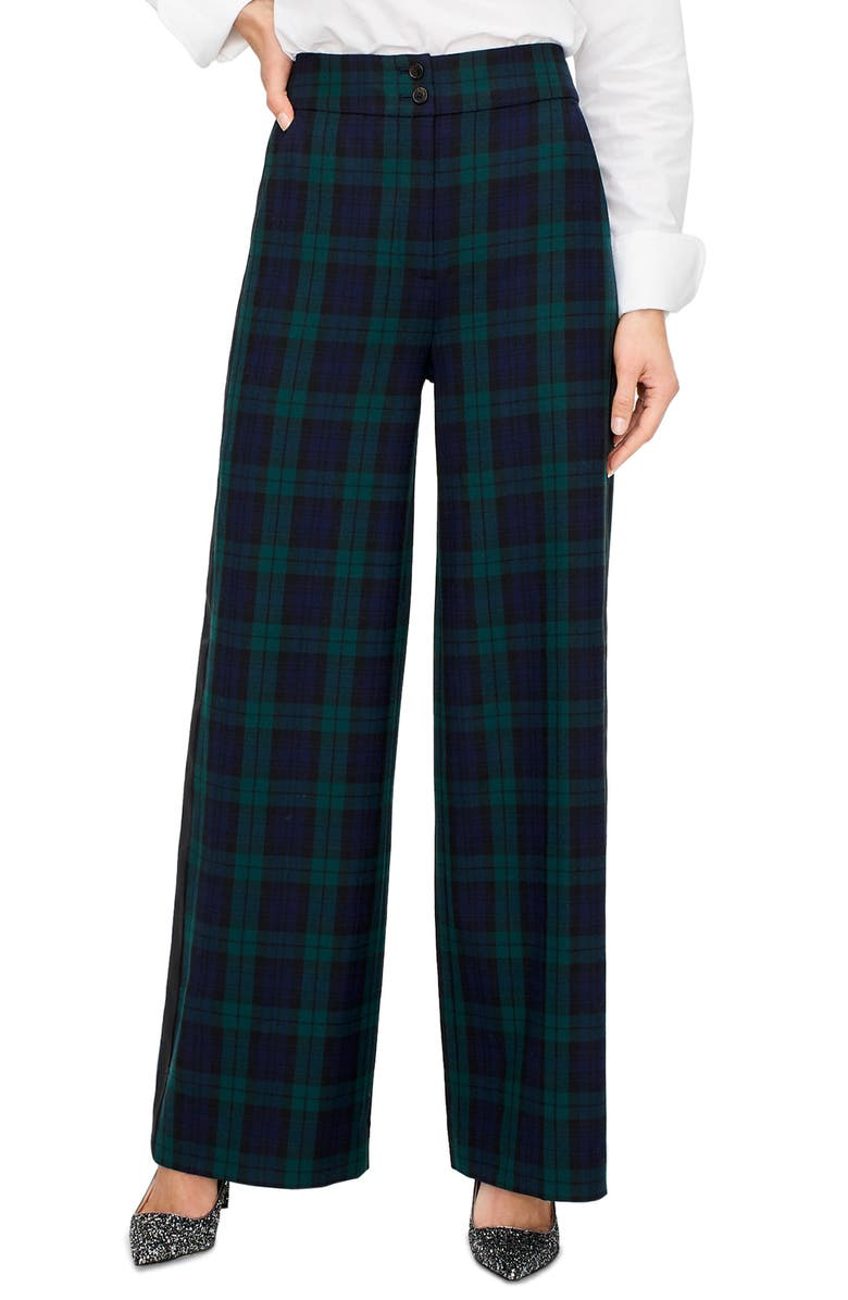 J.CREW Frankie Black Watch Tartan Pants, Main, color, 400