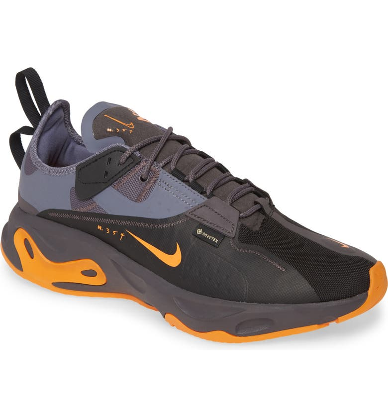 NIKE React-Type Gore-Tex<sup>®</sup> Waterproof Sneaker, Main, color, BLACK/BRIGHT-GREY