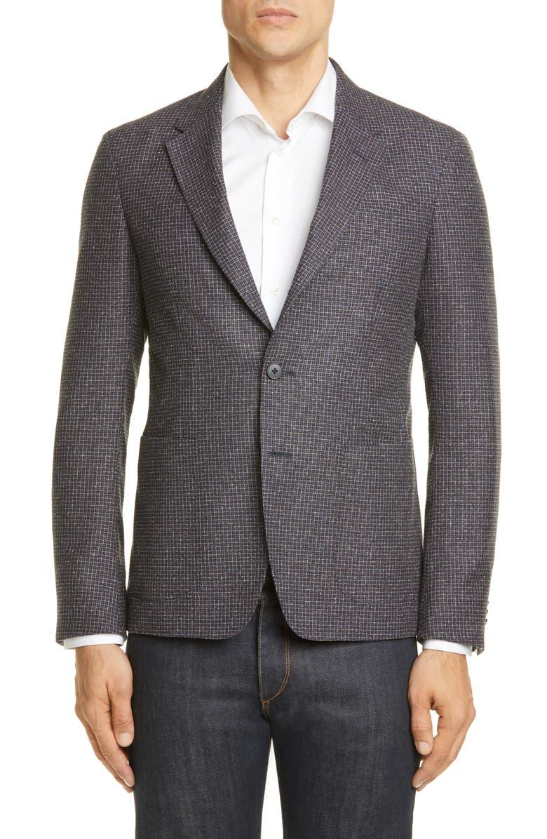 Z ZEGNA D8 Slim Fit Microcheck Sport Coat, Main, color, 200