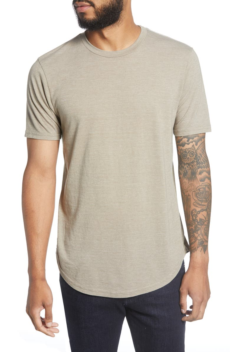GOODLIFE Triblend Scallop Crewneck T-Shirt, Main, color, DUNE