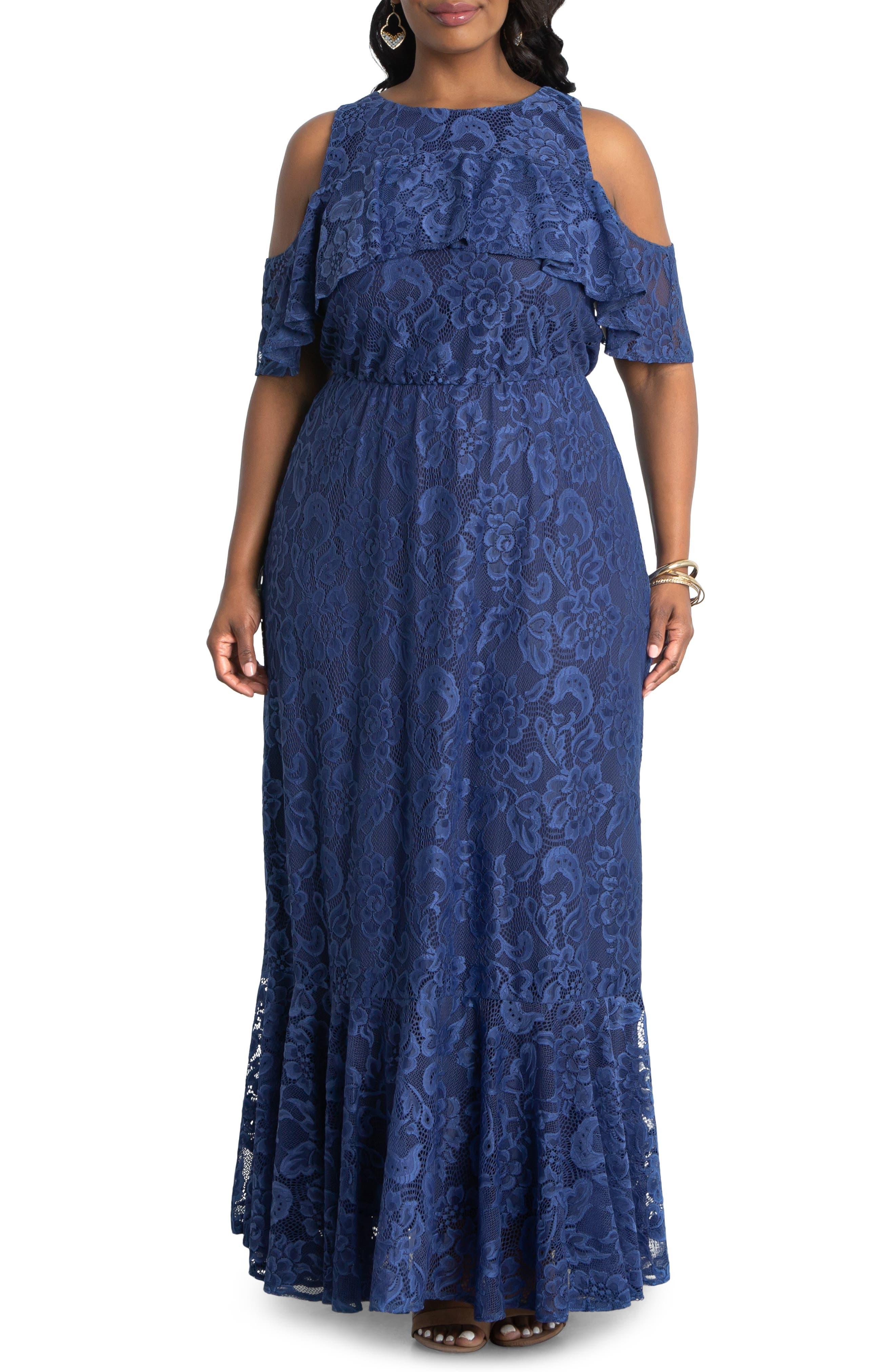 Riviera Cold Shoulder Lace Dress