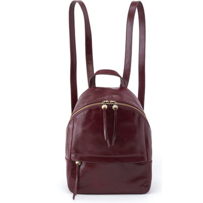 Hobo Cliff Leather Backpack - Purple