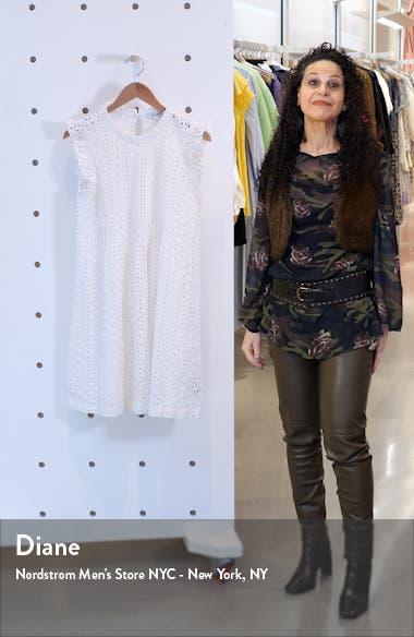 Eyelet Ruffle Sleeve Pintuck Minidress, sales video thumbnail
