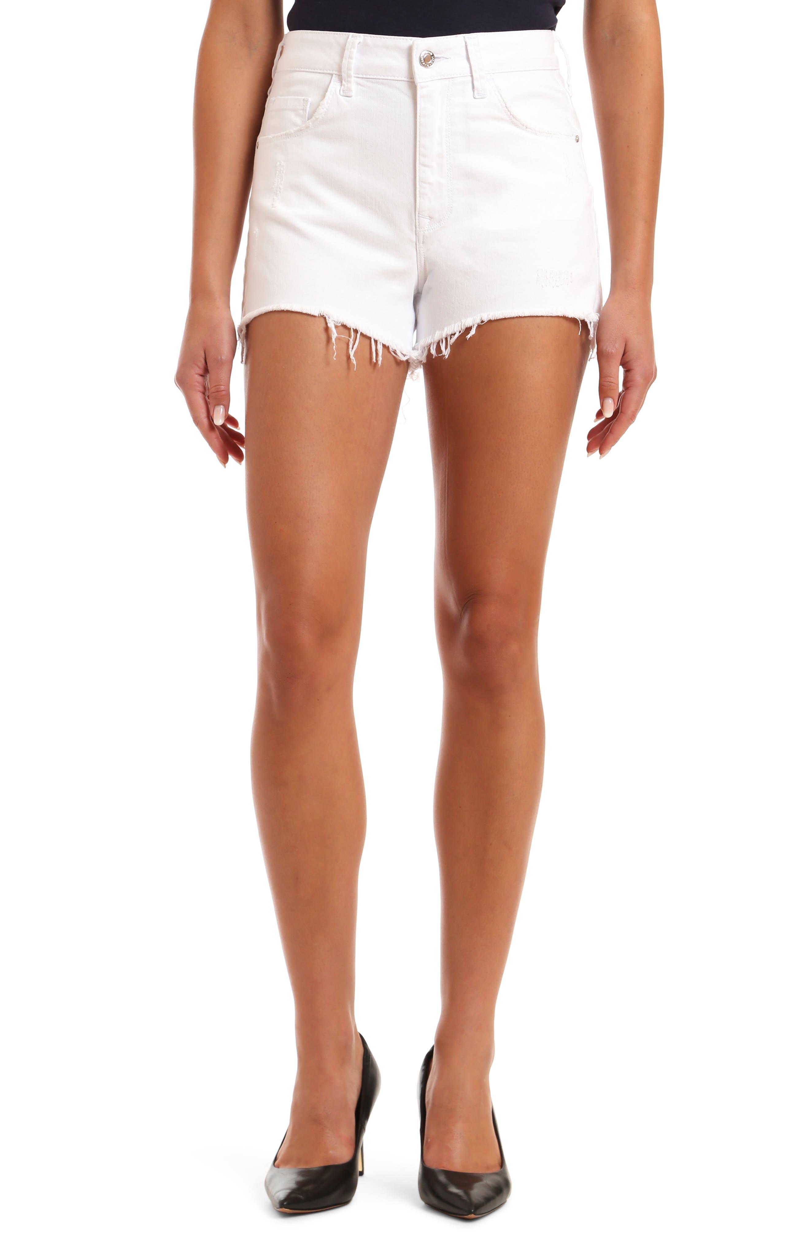 Rosie High Waist Distressed Cutoff Denim Shorts