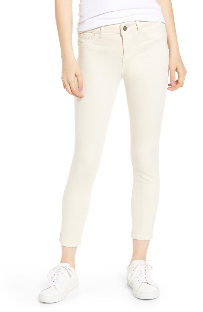 DL1961 Florence Instasculpt Crop Skinny Jeans Ivory