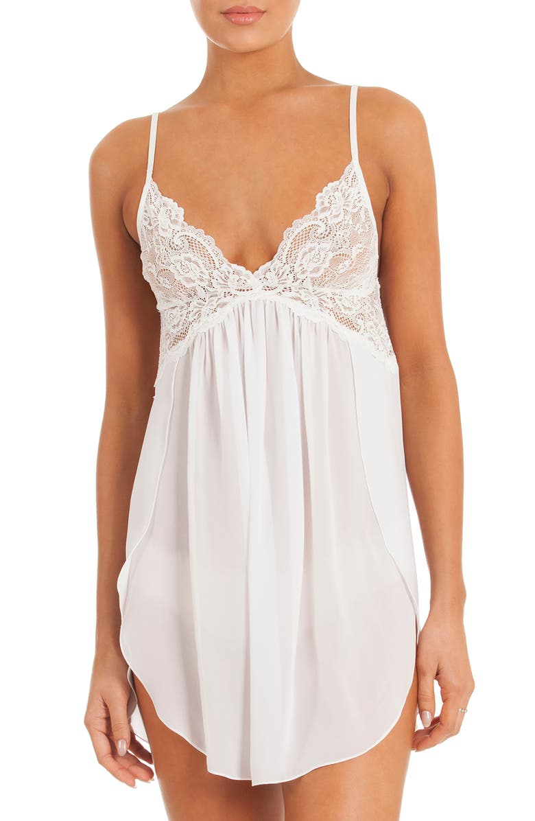 IN BLOOM BY JONQUIL Chemise, Main, color, OFF-WHITE