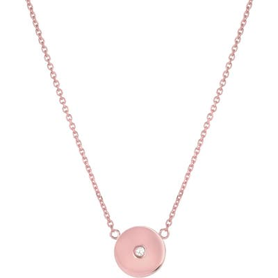 Mini Mini Jewels Forever Collection - Circle Diamond Pendant Necklace