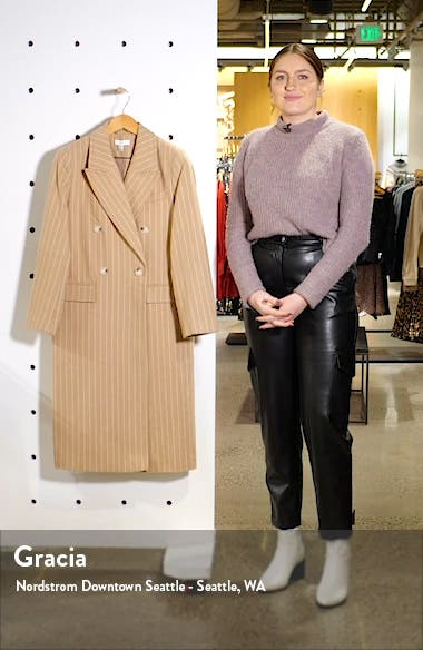 Pinstripe Longline Jacket, sales video thumbnail