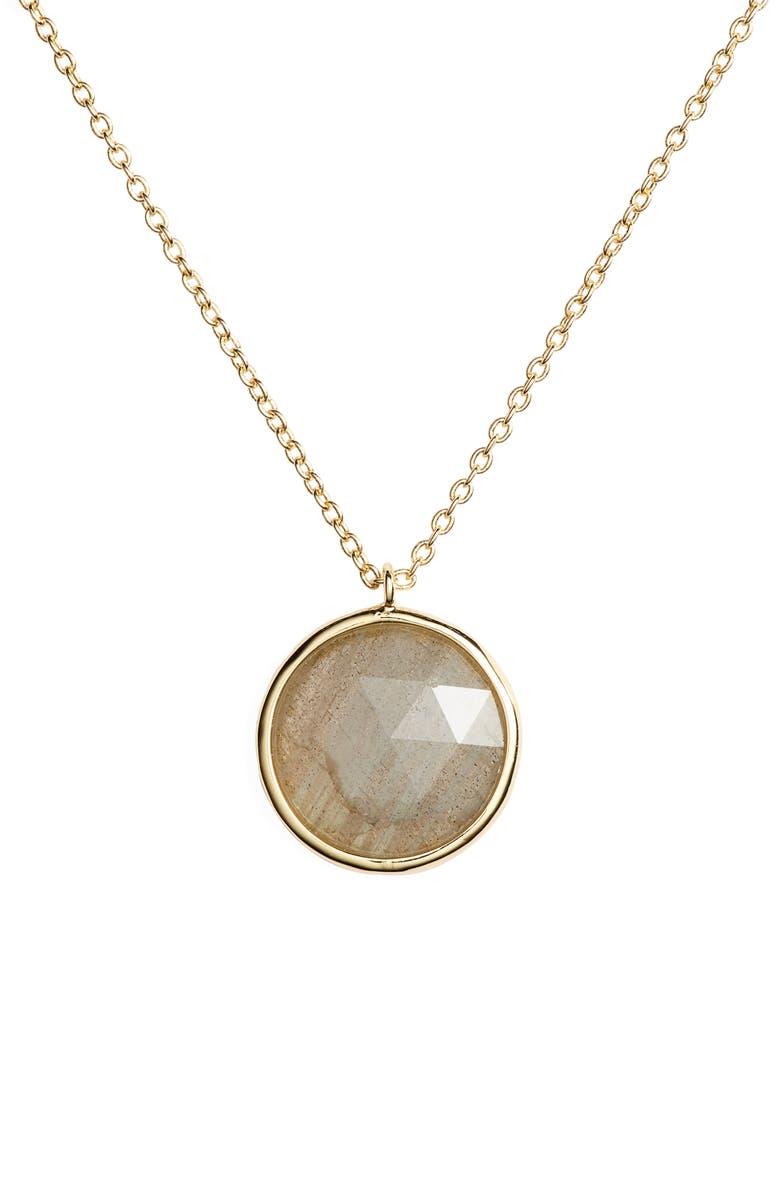 GORJANA Olivia Adjustable Semiprecious Stone Charm Necklace, Main, color, 020