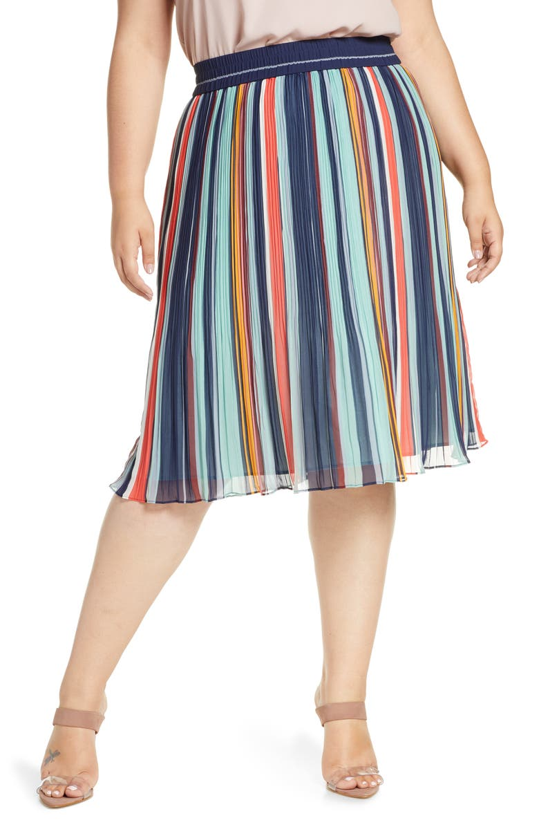 HALOGEN<SUP>®</SUP> Pleated Chiffon Skirt, Main, color, 411
