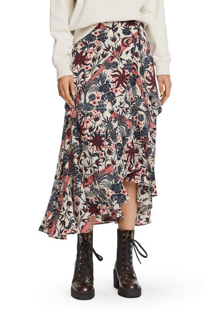 Scotch & Soda FLORAL PRINT WRAP SKIRT