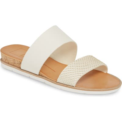 Dolce Vita Vala Wedge Slide Sandal, Ivory