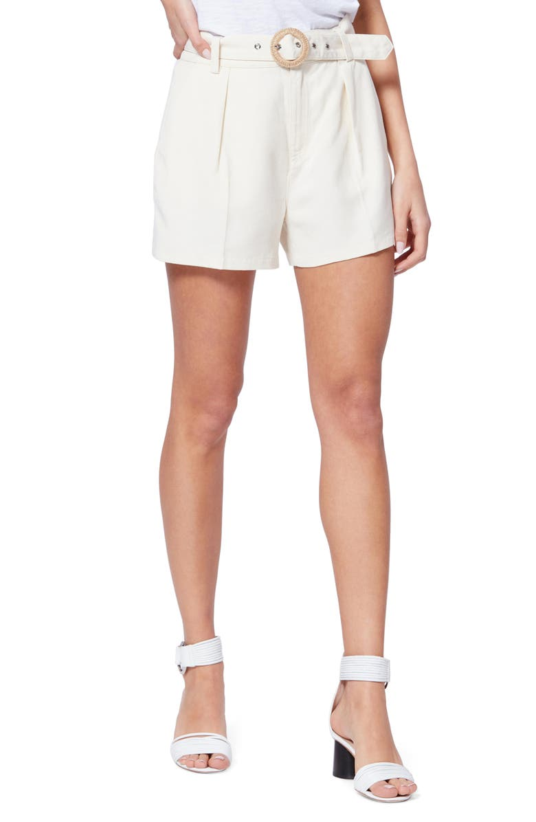 PAIGE Montana Belted High Waist Shorts, Main, color, 250