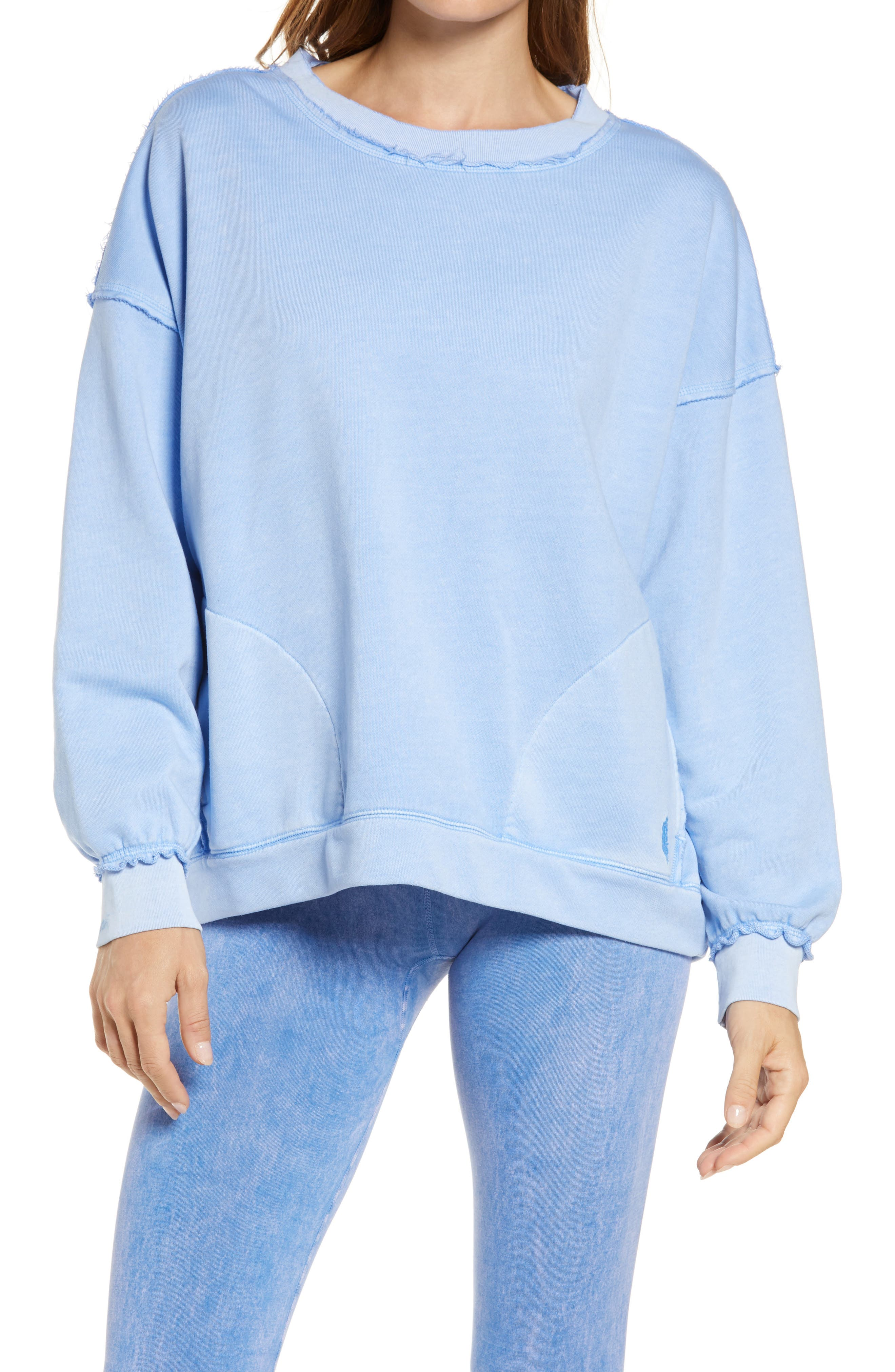 Image of Free People FP Movement Solid Metti Crew Neck Sweatshirt