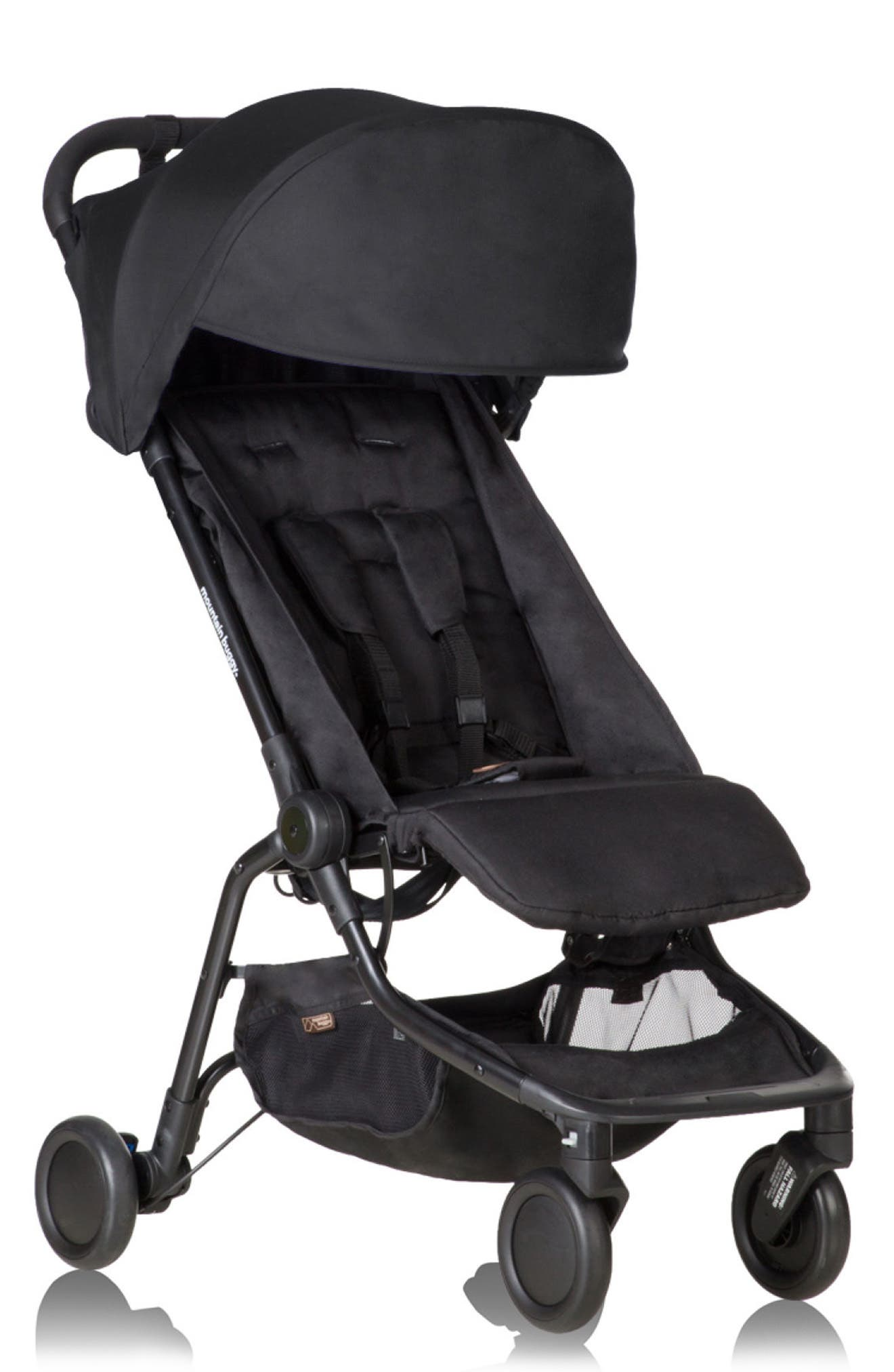 Black Ride On Buggy Board with Saddle For Mountain Buggy Nano