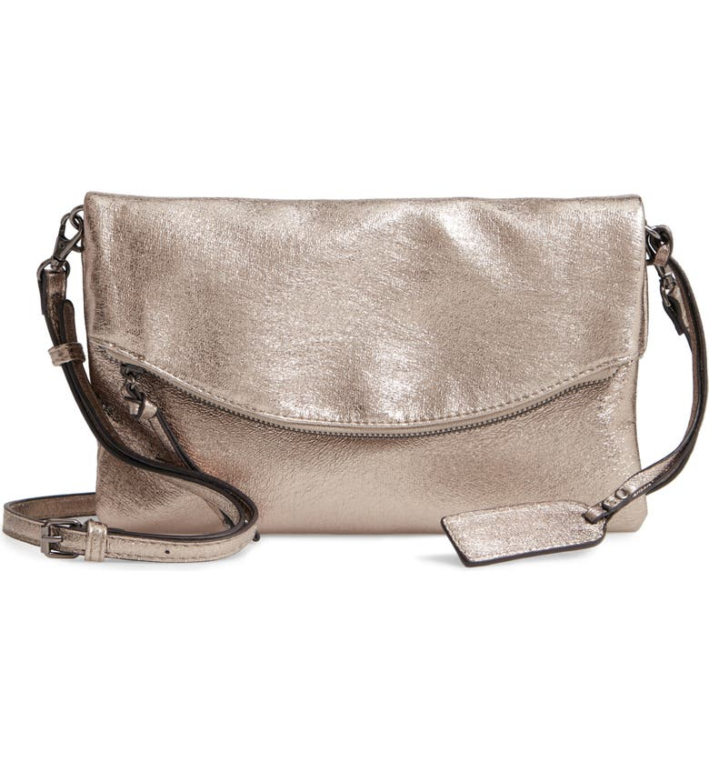 SOLE SOCIETY Missa Metallic Clutch, Main, color, 020