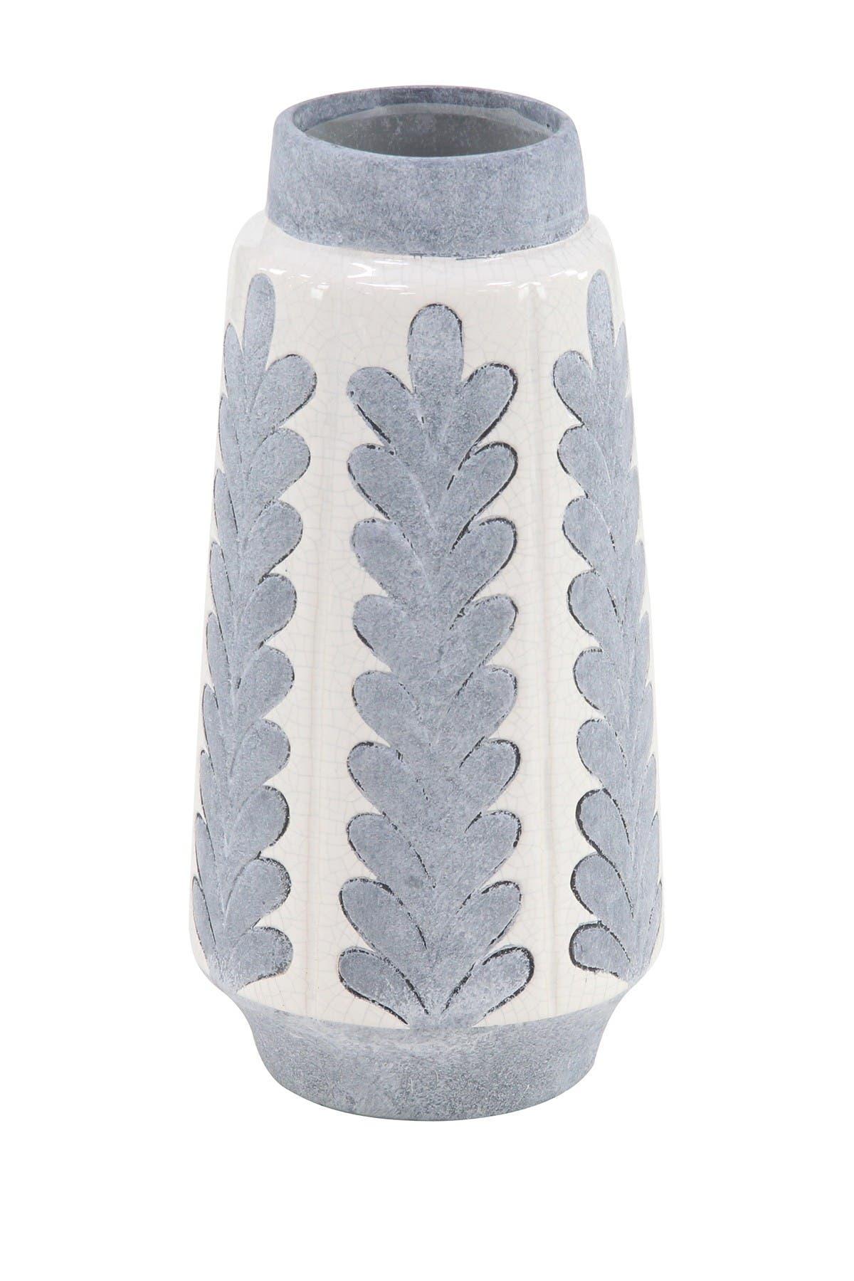 "Image of Willow Row Natural 14"" x 7"" Gray Stoneware Decorative Vase"
