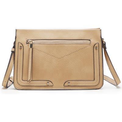 Sole Society Ledo Faux Leather Crossbody Bag - Brown