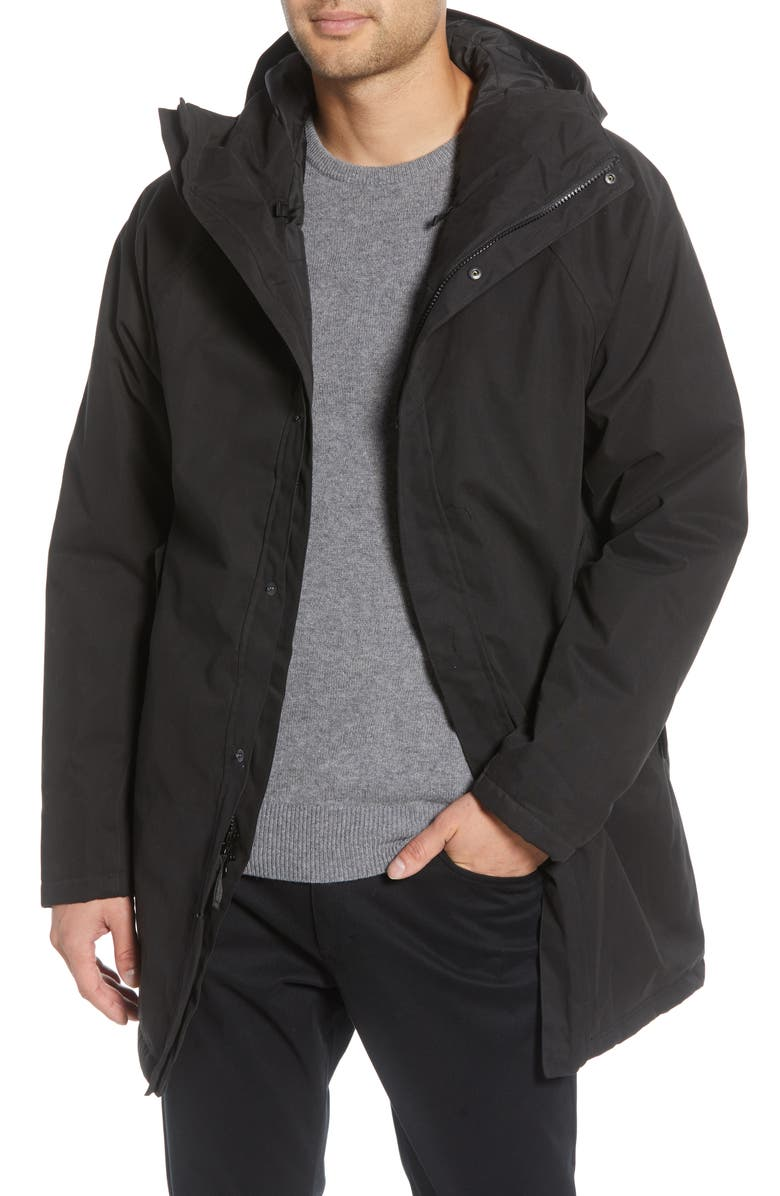 BARO The Manning Insulated Waterproof Parka, Main, color, BLACK