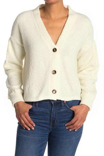 Image of Philosophy Apparel Knit Button Front Cardigan