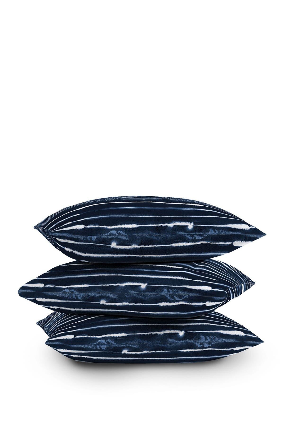 Image of Deny Designs Ninola Design Navy Ink Stripes Square Throw Pillow