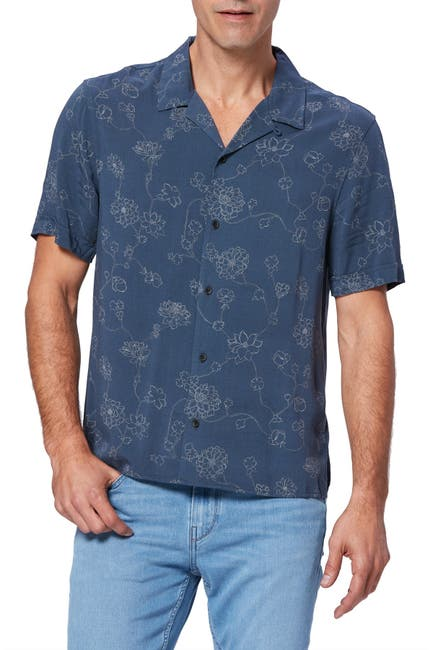 Image of PAIGE Landon Floral Short Sleeve Shirt