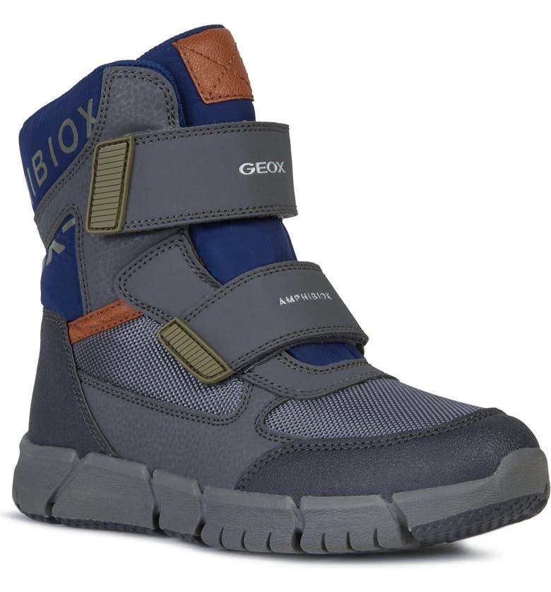 GEOX Flexyper ABX Waterproof Boot, Main, color, DARK GREY/ BLUE