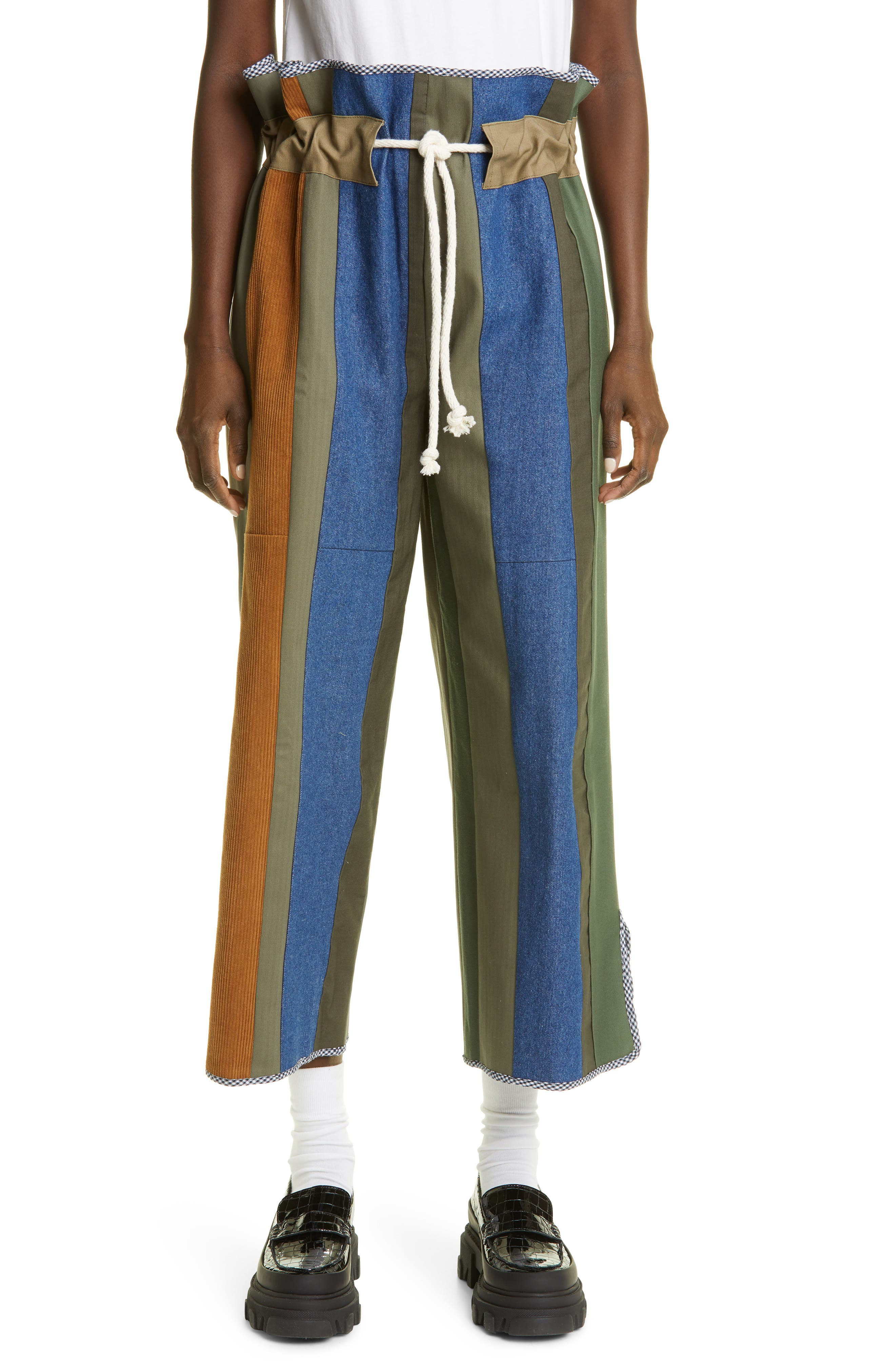 Unisex One Of A Kind Patch Stripe Pants