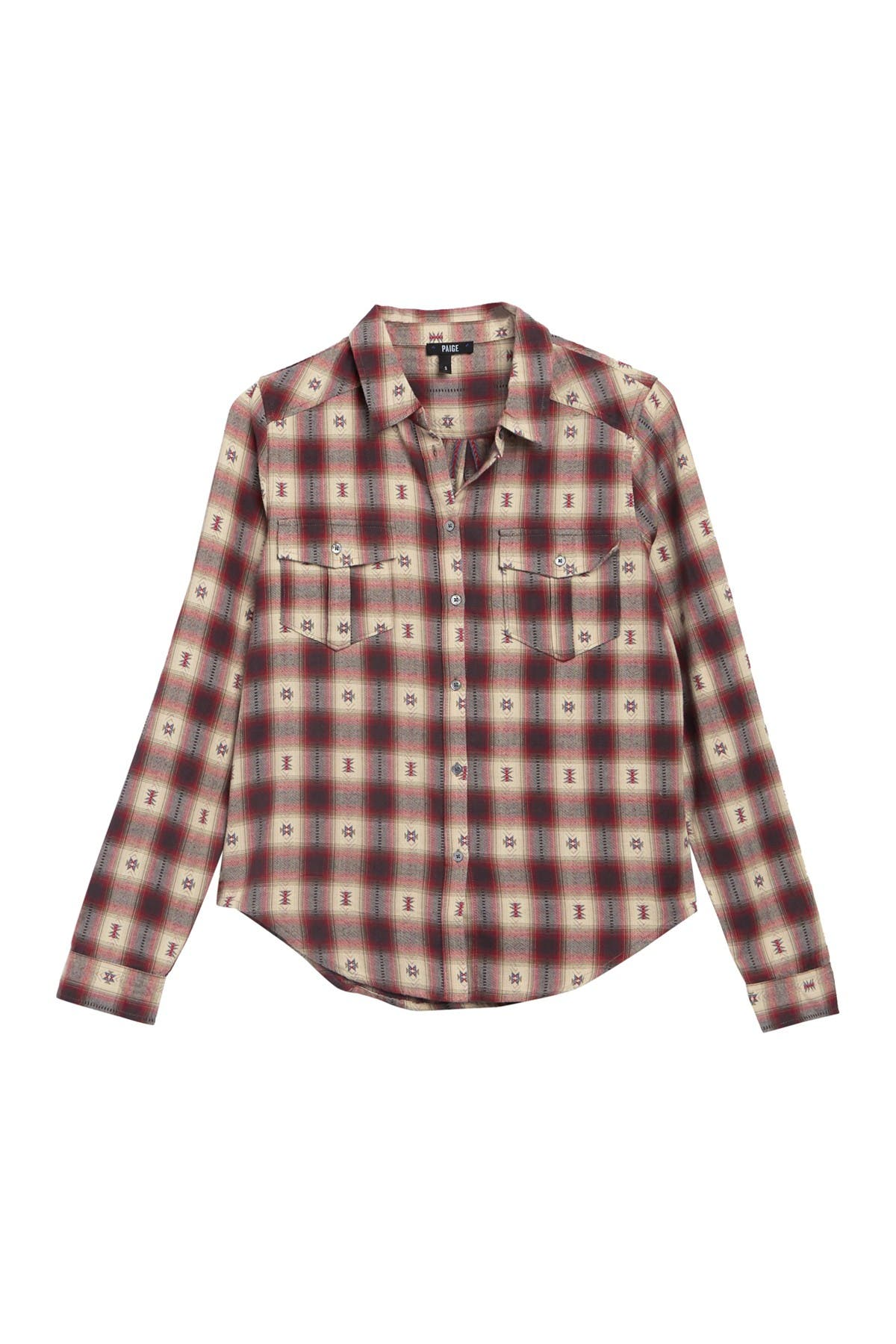 Image of PAIGE Mya Plaid Shirt
