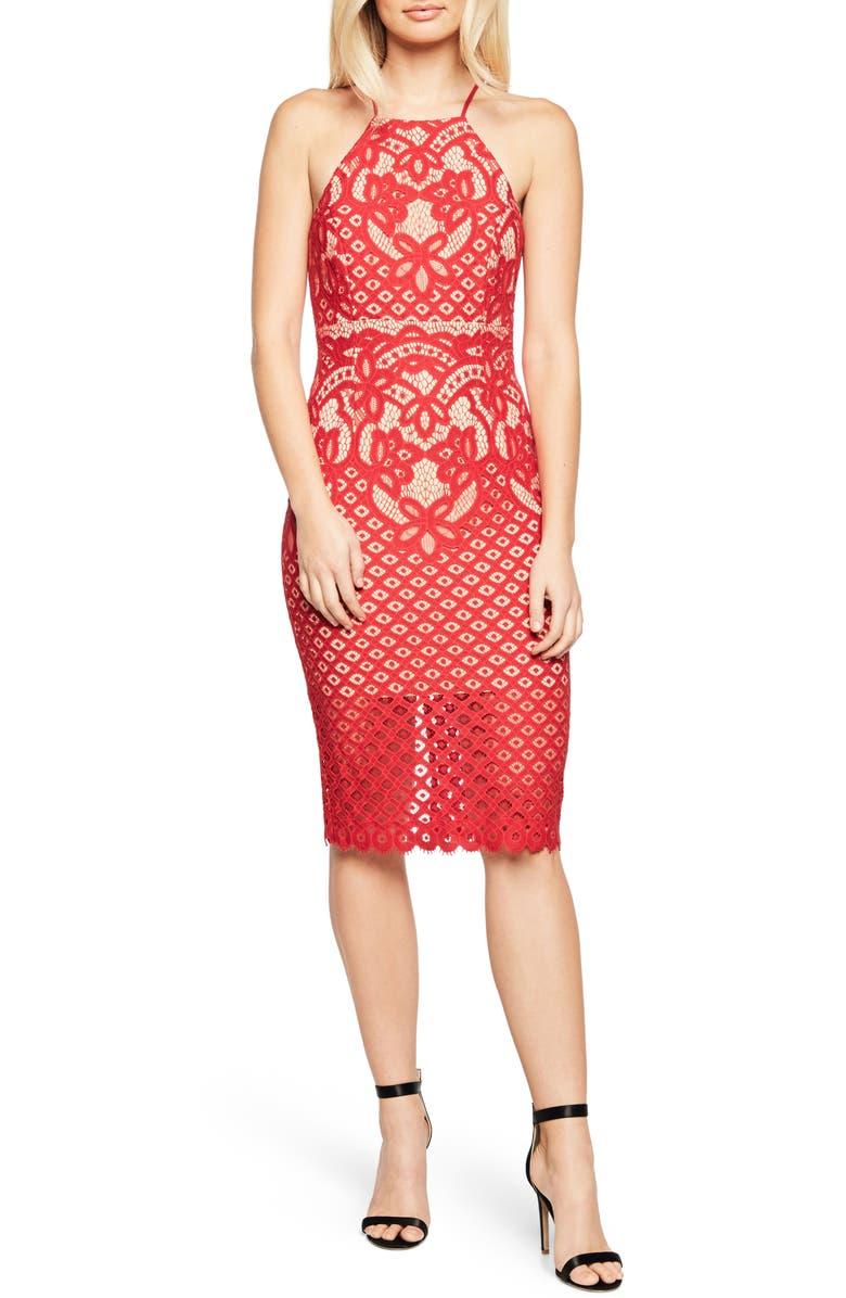 BARDOT Mila Lace Dress, Main, color, 620