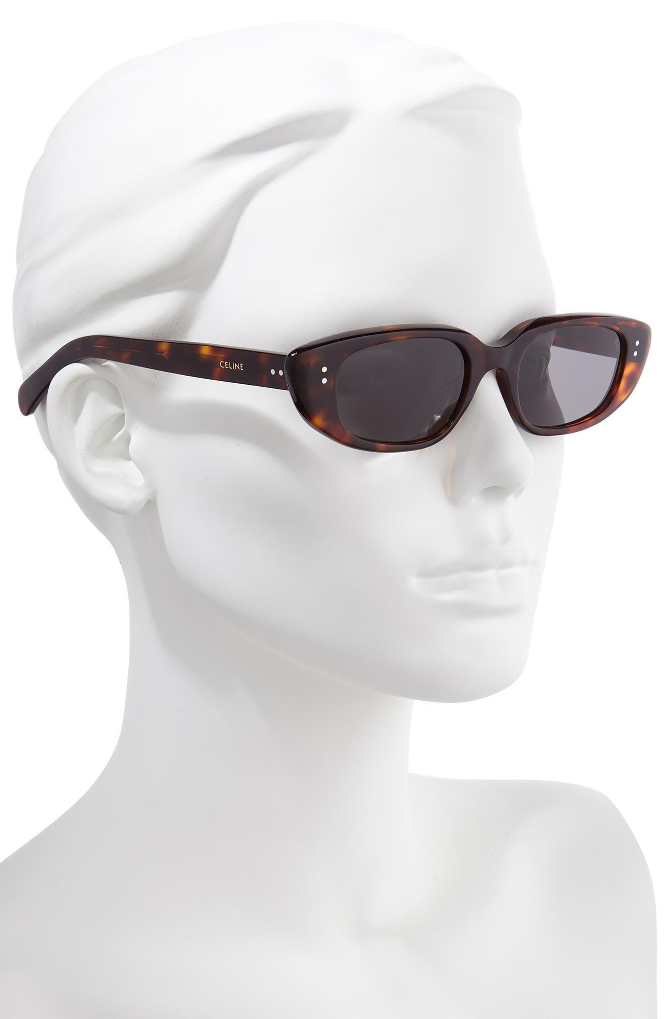 CELINE Sunglasses 51mm Oval Cat Eye Sunglasses