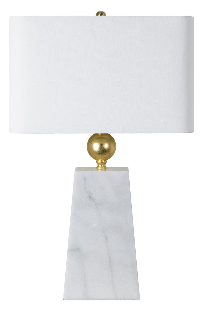 RENWIL Adanya Marble Table Lamp, Main, color, GOLD FOIL WHITE MARBLE
