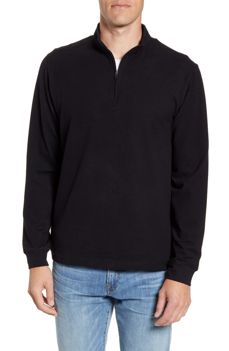 JOHNNIE-O Brady Half Zip Pullover, Main, color, BLACK
