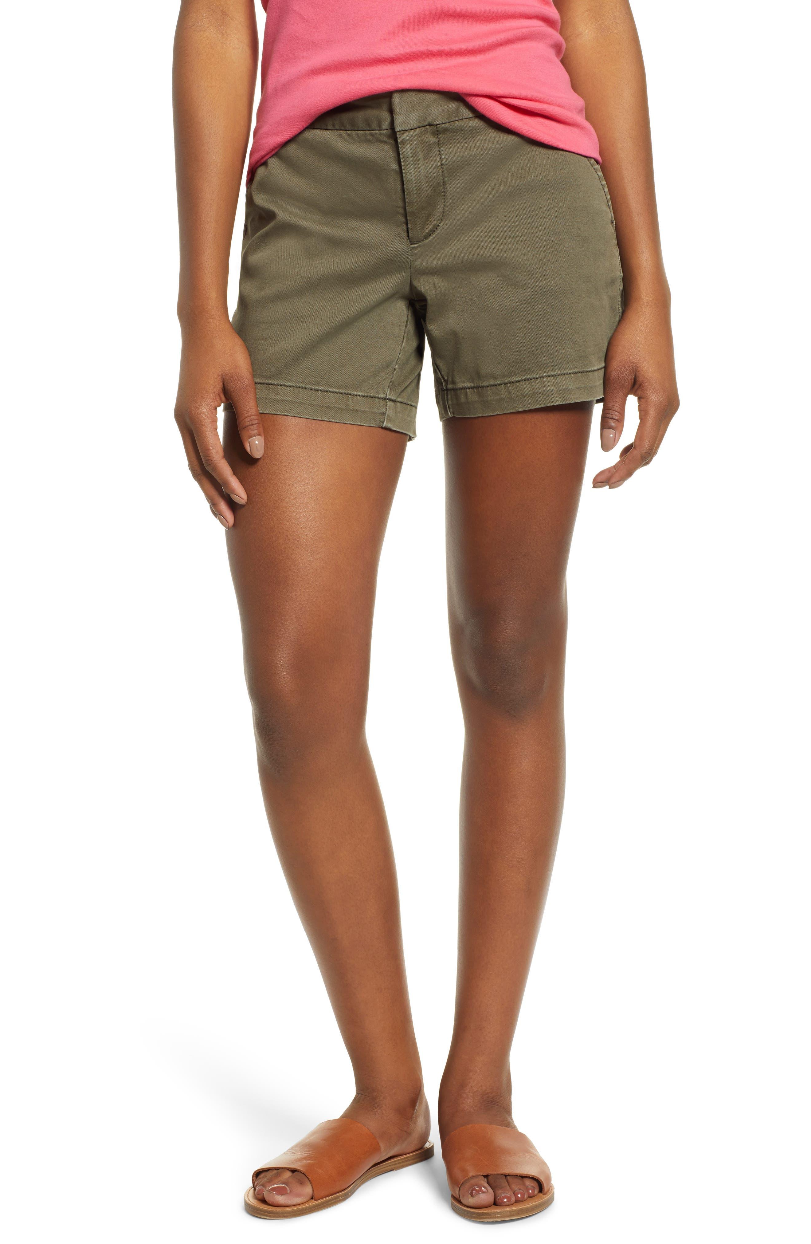 Women's Caslon Cotton Blend Twill Shorts