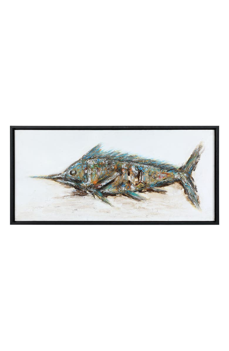 UTTERMOST Blue Marlin Wall Art, Main, color, MULTI COLOR / BLACK FRAME