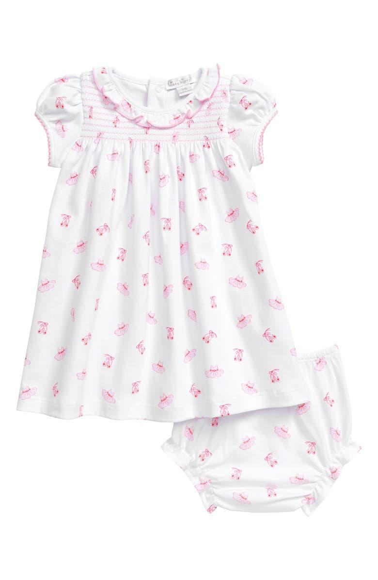 KISSY KISSY Pink Ballet Smocked Dress, Main, color, 650