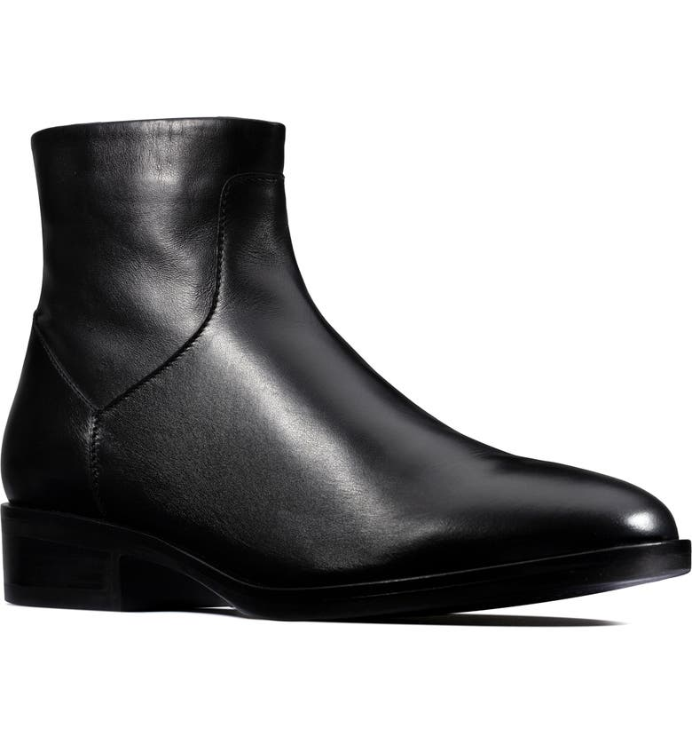 CLARKS<SUP>®</SUP> Pure Rosa Bootie, Main, color, BLACK LEATHER