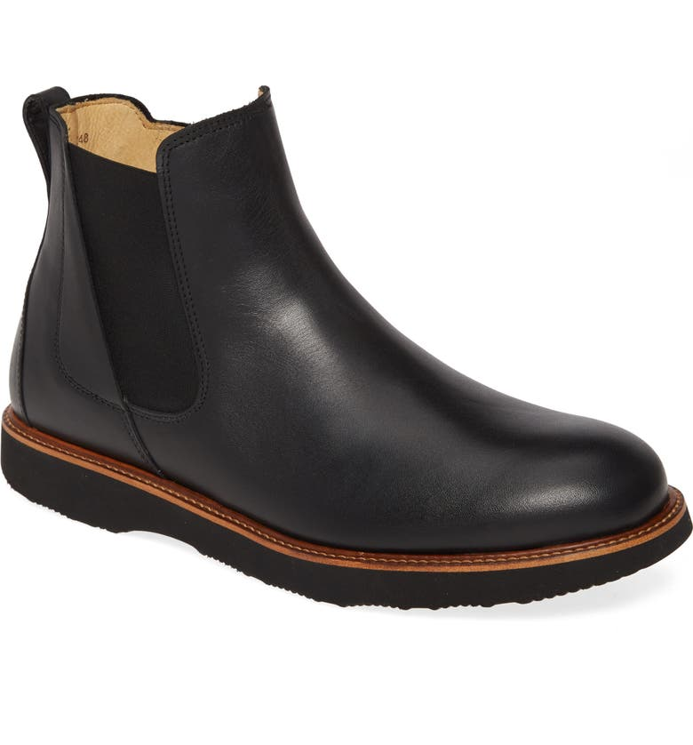 SAMUEL HUBBARD 24 Seven Zip Boot, Main, color, BLACK LEATHER