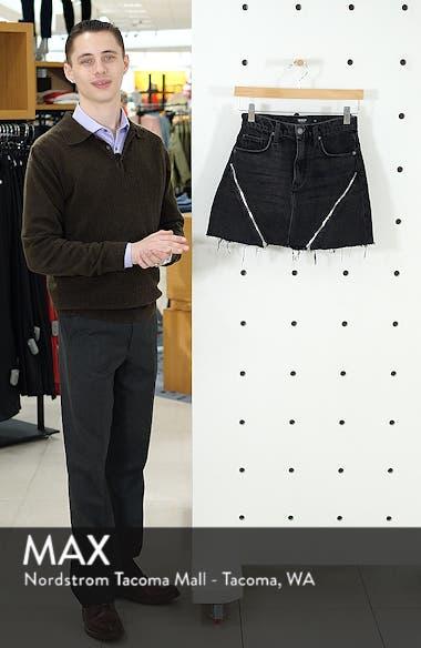The Viper Cutoff Denim Miniskirt, sales video thumbnail