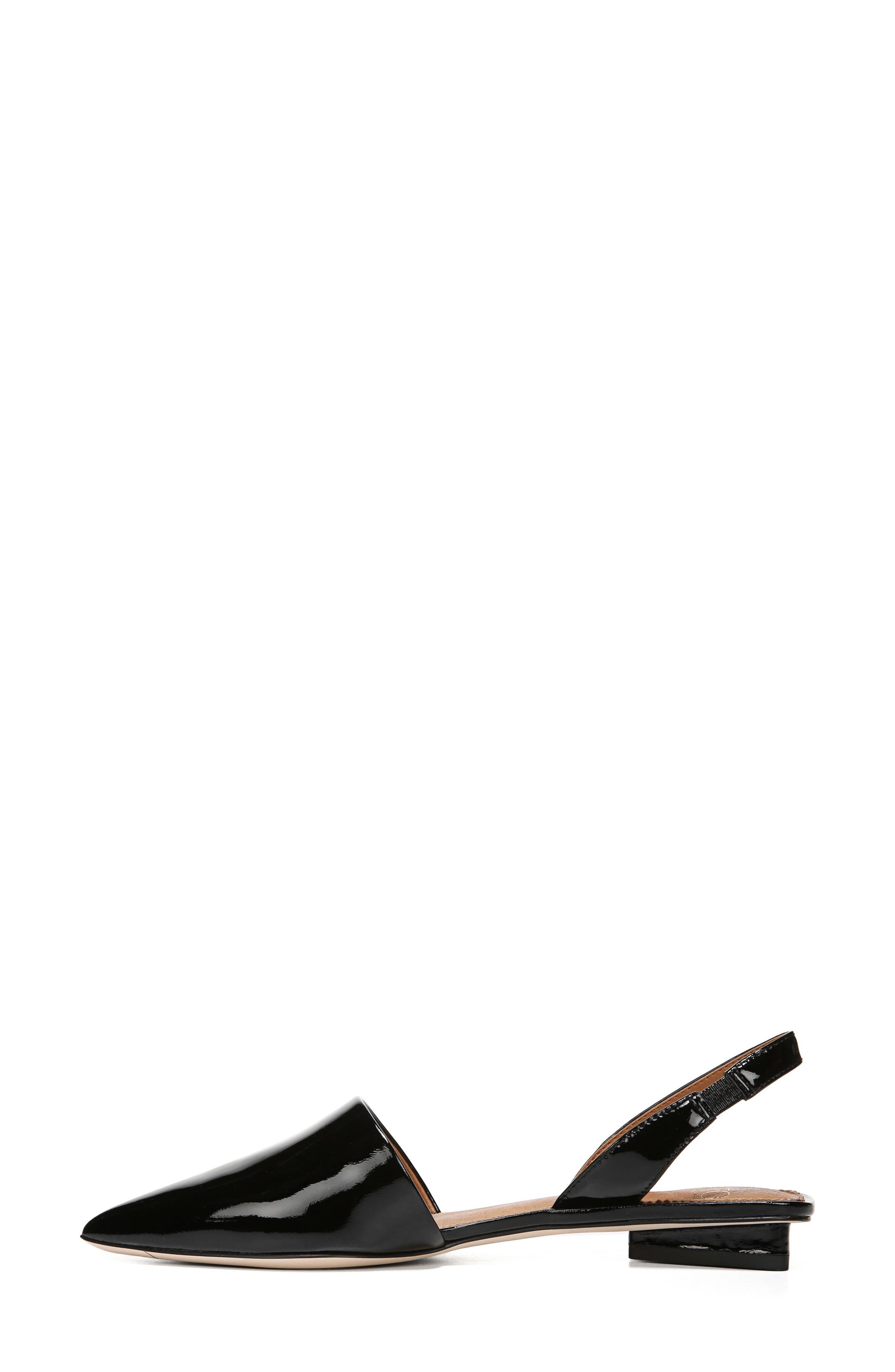 ,                             Graydon Pointy Toe Slingback Flat,                             Alternate thumbnail 8, color,                             BLACK PATENT LEATHER