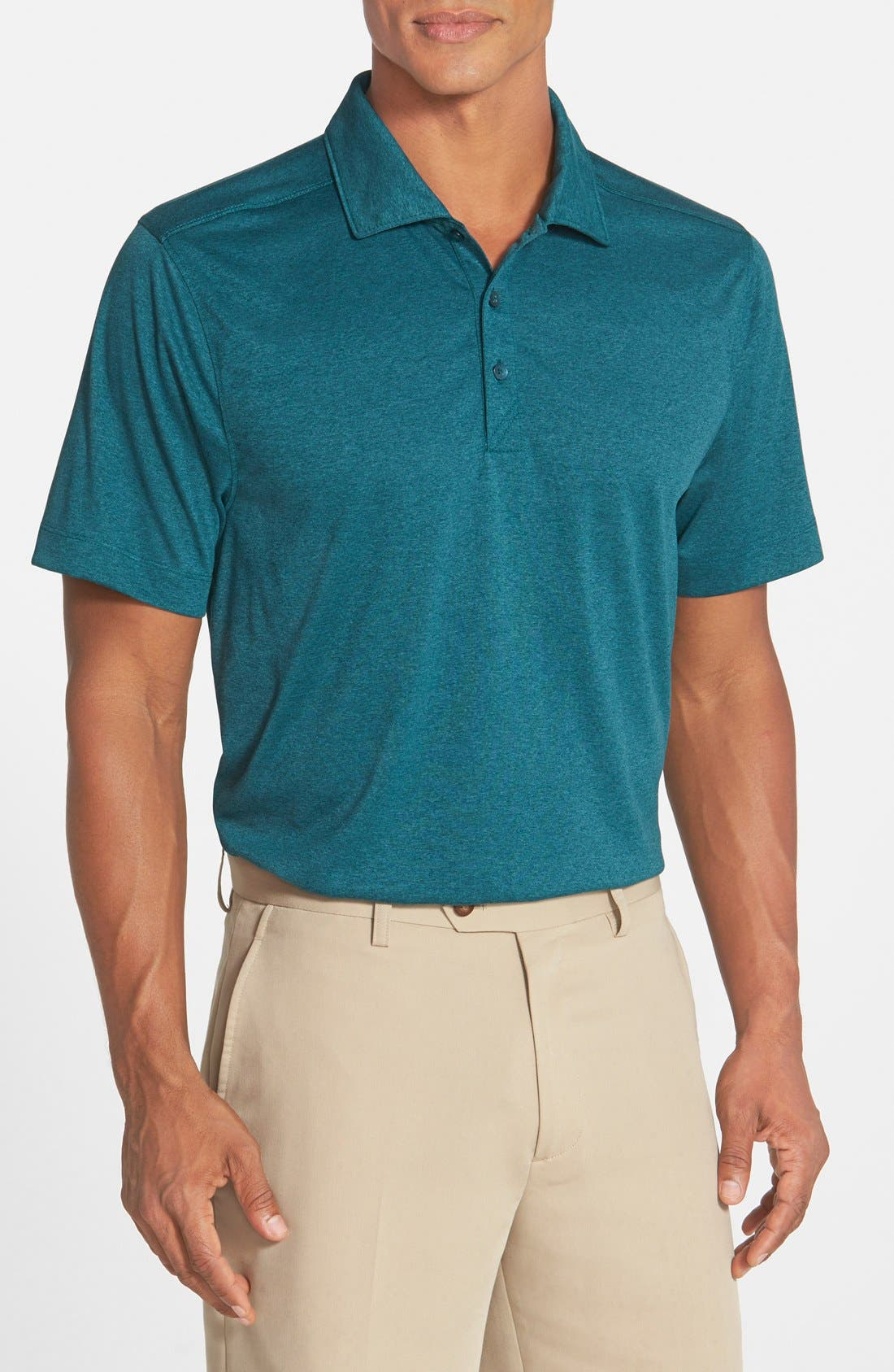,                             Chelan DryTec Polo,                             Main thumbnail 1, color,                             MIDNIGHT GREEN HEATHER