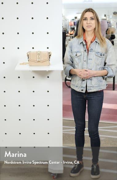 Casey Chain Detail Croc Embossed Crossbody Bag, sales video thumbnail