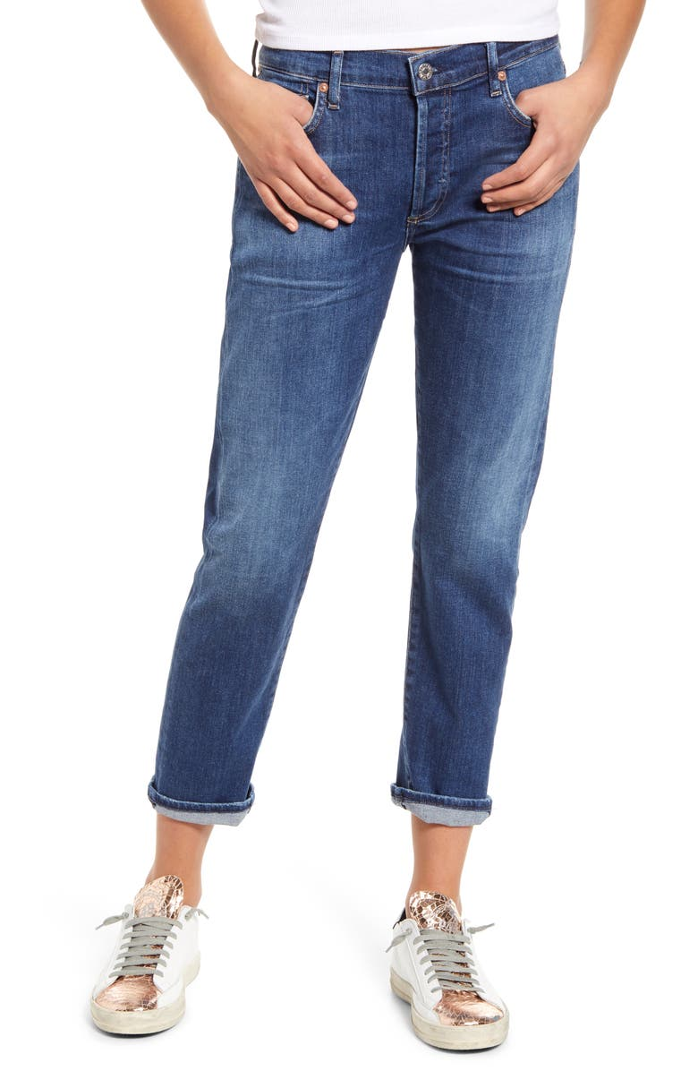 CITIZENS OF HUMANITY Emerson Crop Slim Fit Boyfriend Jeans, Main, color, 425