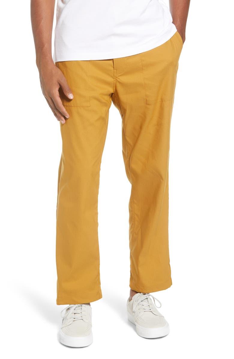 NIKE SB Dri-FIT Everett Performance Pants, Main, color, WHEAT/ BLACK