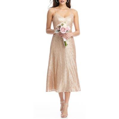 Dessy Collection Elle Sequin Cocktail Dress, Pink
