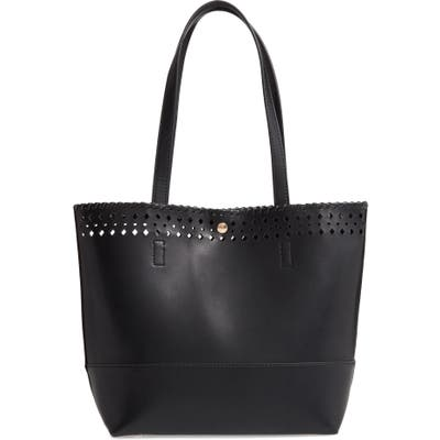 Sole Society Ivah Mini Faux Leather Tote - Black