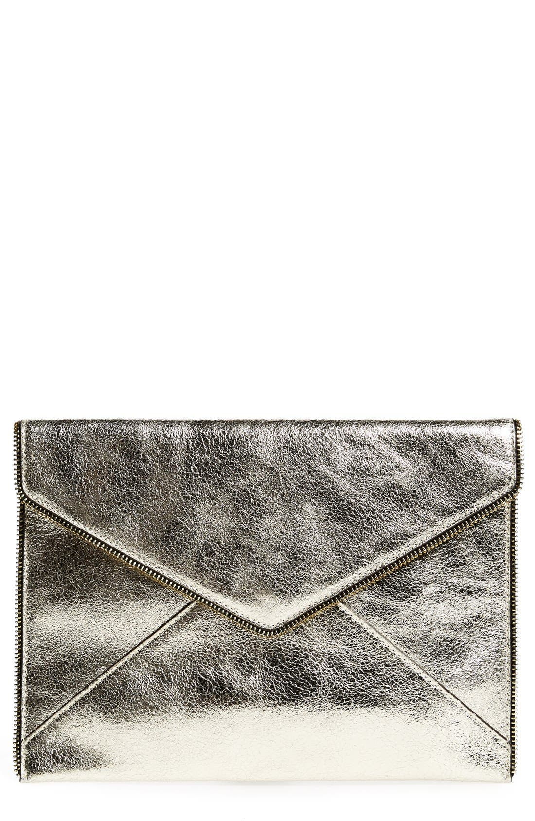 ,                             Leo Envelope Clutch,                             Main thumbnail 309, color,                             901