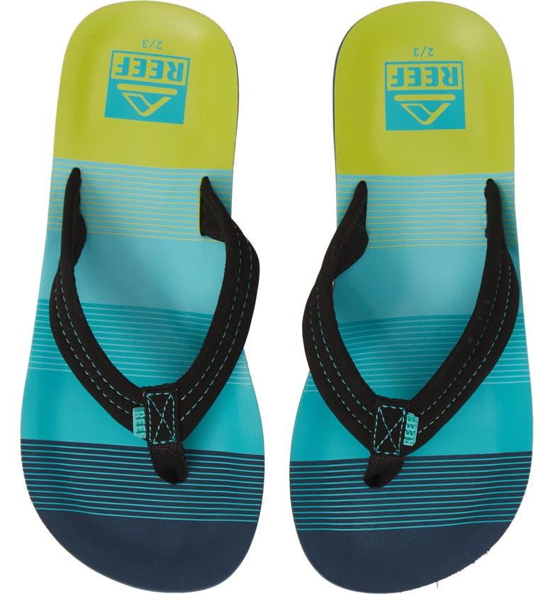 REEF Ahi Flip Flop, Main, color, AQUA GREEN