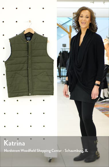 Faux Shearling Lined Puffer Vest, sales video thumbnail